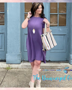 Lilac Misty Morning Short Sleeve Dress