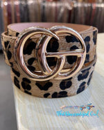 Double O-Ring Belt I GG Fashion Belt