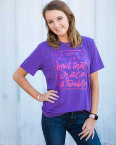 It's All About The Grace  Graphic Tee - TheBrownEyedGirl Boutique