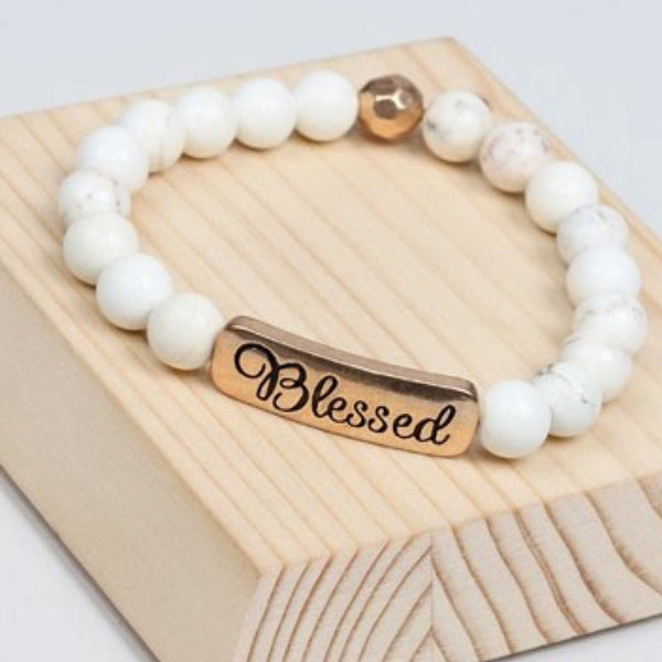 ivory - Blessed natural stone inspiration bracelets