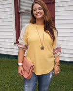 Sunny Day Waffle Knit Embroidered Top - TheBrownEyedGirl Boutique