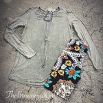 Dusty Sand Mineral Washed Tunic - TheBrownEyedGirl Boutique