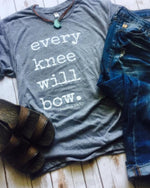 Every Knee Will Bow Graphic Religious Tee - TheBrownEyedGirl Boutique