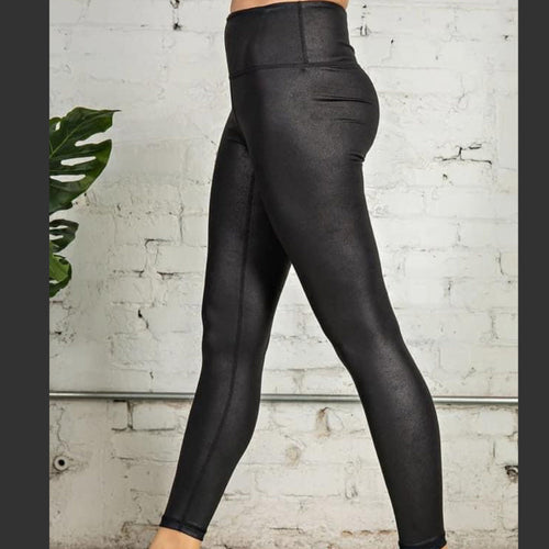Black Magical Pebble Leggings Tummy Control