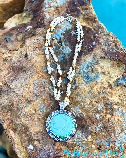 Turquoise Haven Sterling Sliver Strung With Natural Stones And Genuine Turquoise Incased In Sterling Sliver