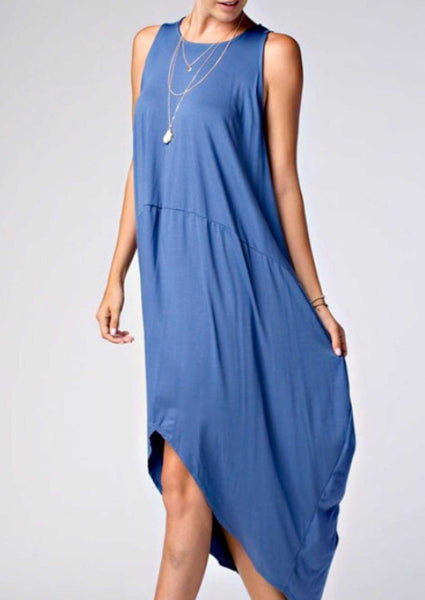 Staple Style Essential Hi-Low Bubble Maxi