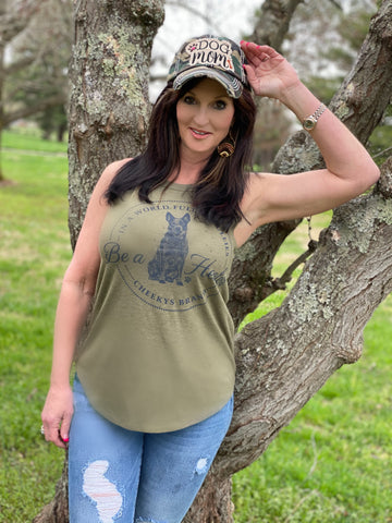 Be A Heeler Olive Rocker Tank Top Fits True To Size The-Brown-Eyed-Girl - Boutique