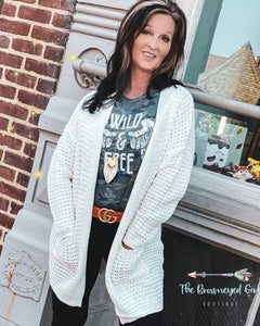 Oh So Cozy Waffle Knit Sweater Cardigan