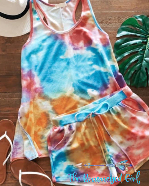 Summer Loving The Perfect Tie-dye Shorts  Double Pockets  thebrowneyedgirl-boutique/products