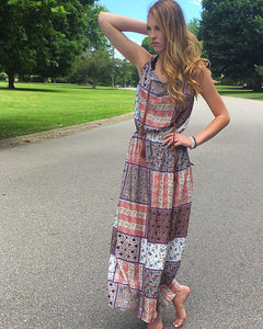 Boho Chic Patchwork Maxi - TheBrownEyedGirl Boutique