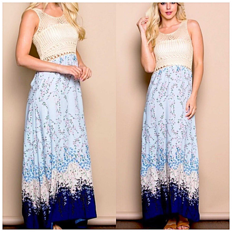Take Me To The Beach Maxi - TheBrownEyedGirl Boutique