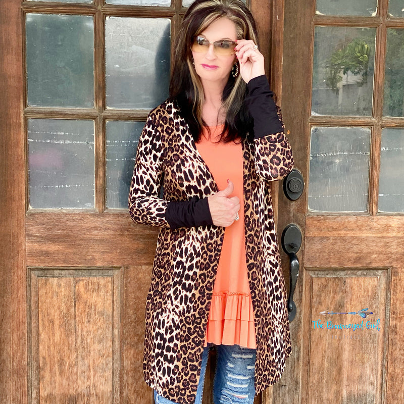 Cheetah Wild Side Cardigan With Thumbholes