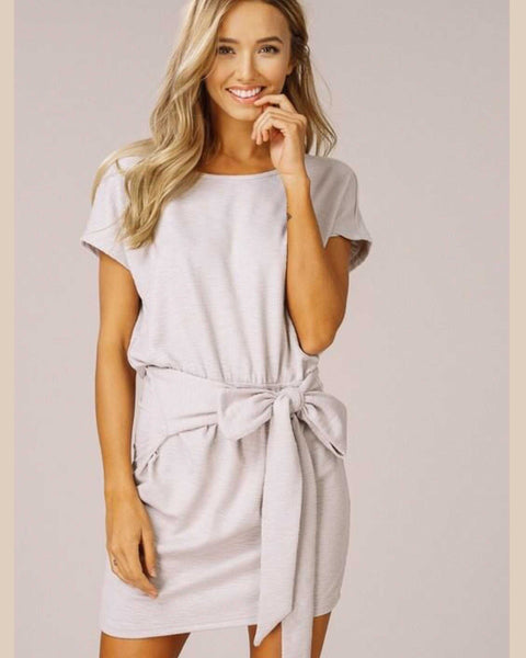 Chloe Ribbed Knit Wrap Dress - TheBrownEyedGirl Boutique