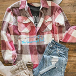 Shacket Plaid Jacket/Shirt