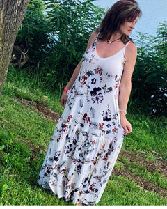 Chasing The Wind Ivory Floral Maxi The Perfect Summer Dress Super Soft Relaxed Fit