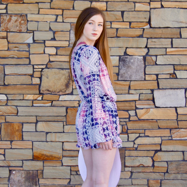 Dream Catcher Multi Print Romper - TheBrownEyedGirl Boutique