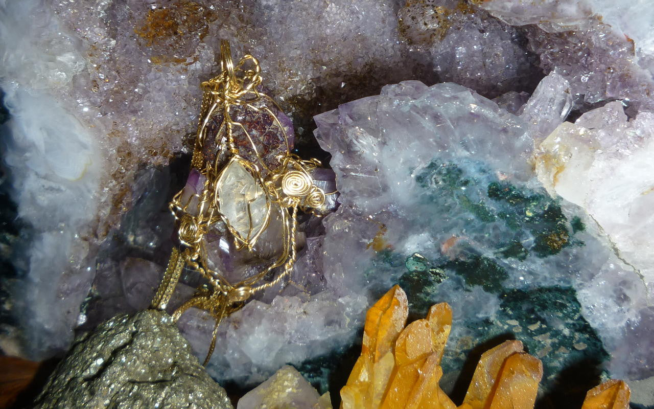 Crystal jewelry and crystals