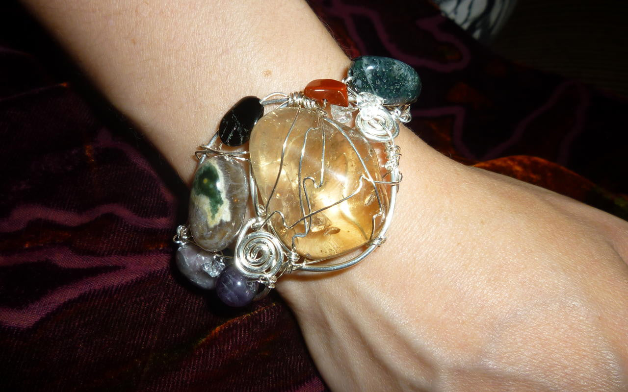 Crystal jewelry, a bracelet