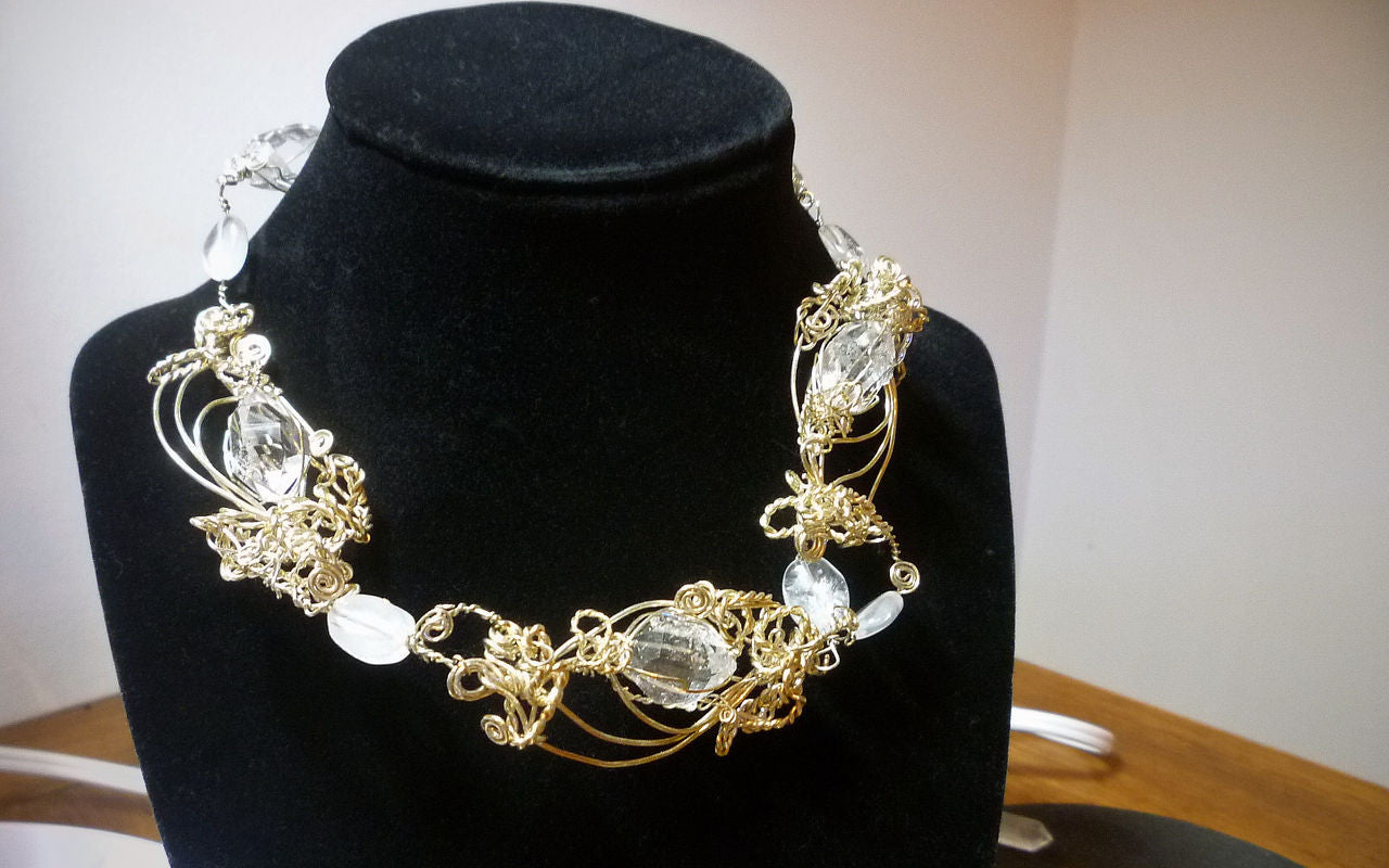 Crystal jewelry, a necklace