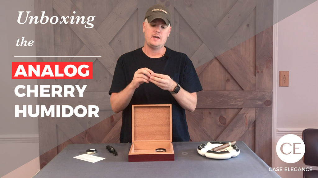 Unboxing & Seasoning the Analog Cherry Humidor
