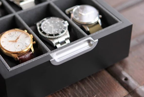 Case Elegance's timepiece-safe magnetic closing watch box