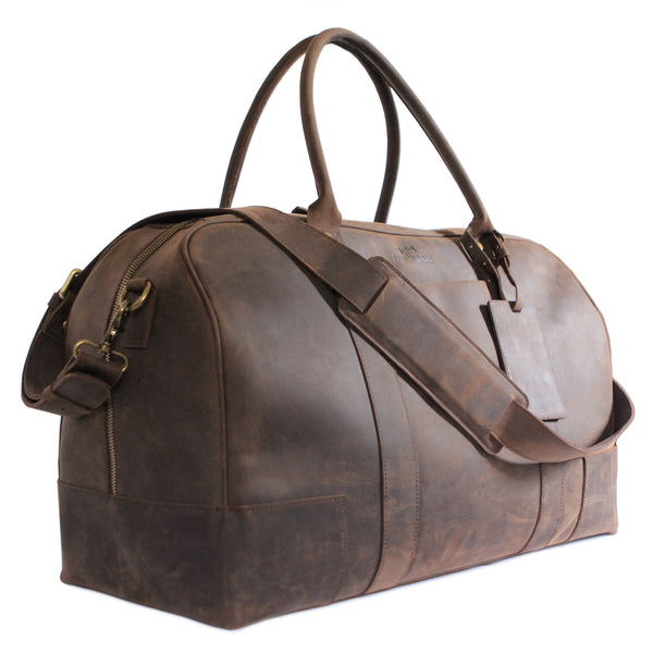 Leather Weekender Duffel by Bucksaw