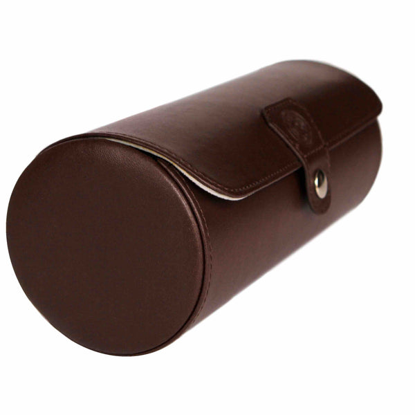 "Limited Edition ""Chocolate"" Color - Vegan Leather Watch Roll Organizer"