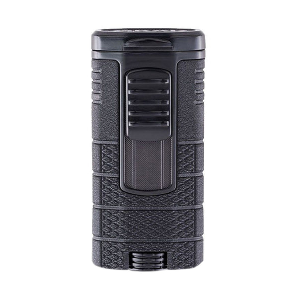 Xikar Tactical Triple Jet Torch Flame - Black on Black