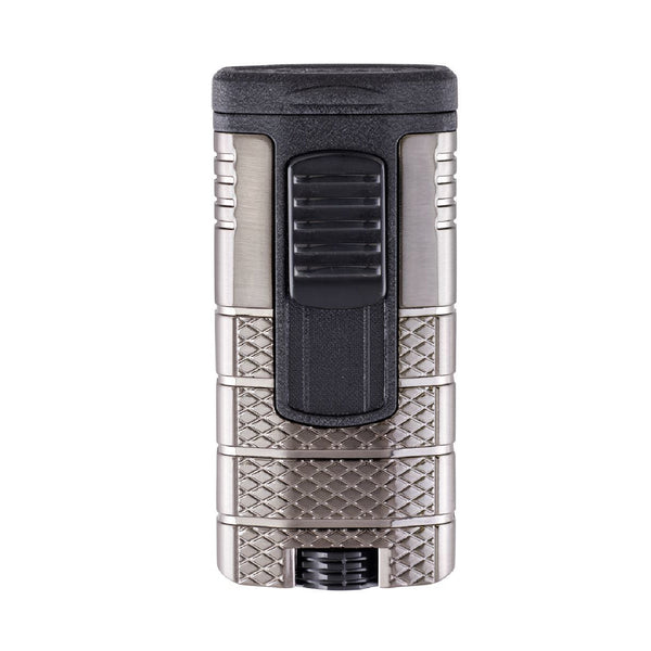 Xikar Tactical Triple Jet Torch Flame - Gunmetal & Black