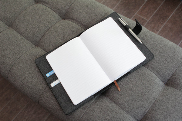 Bucksaw Refillable Black Leather Journal