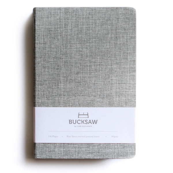 Fine Linen Covered Journal Ruled Notebook 8.4 x 5.7 in by Bucksaw -