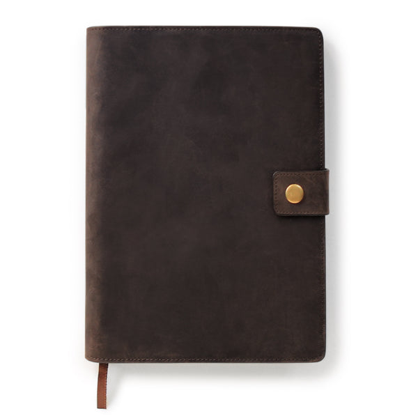 Full Grain Leather Refillable Journal Cover with A5 Lined Notebook by Bucksaw