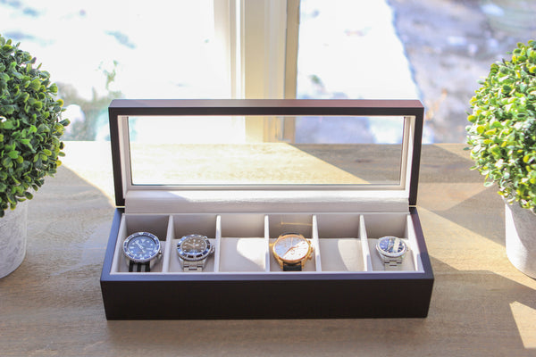 Solid Wood Watch Box - 6 Slot