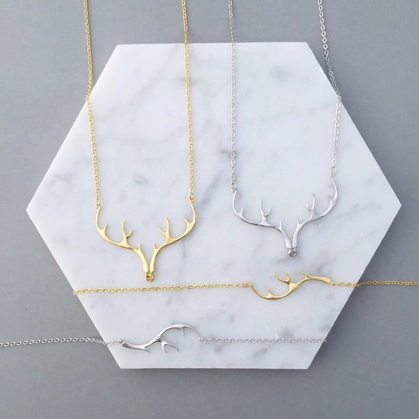 ANTLER NECKLACE & BRACELET SET