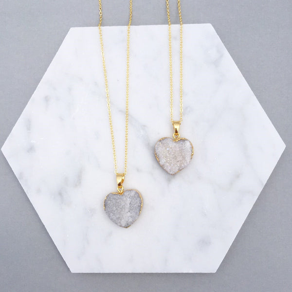 DRUZY HEART NECKLACE