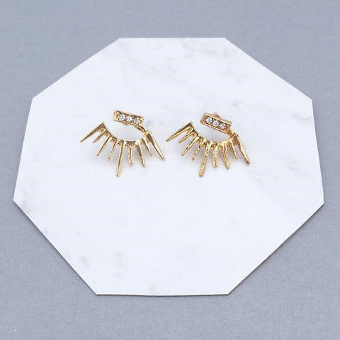 GOLD SPIKE EAR JACKET