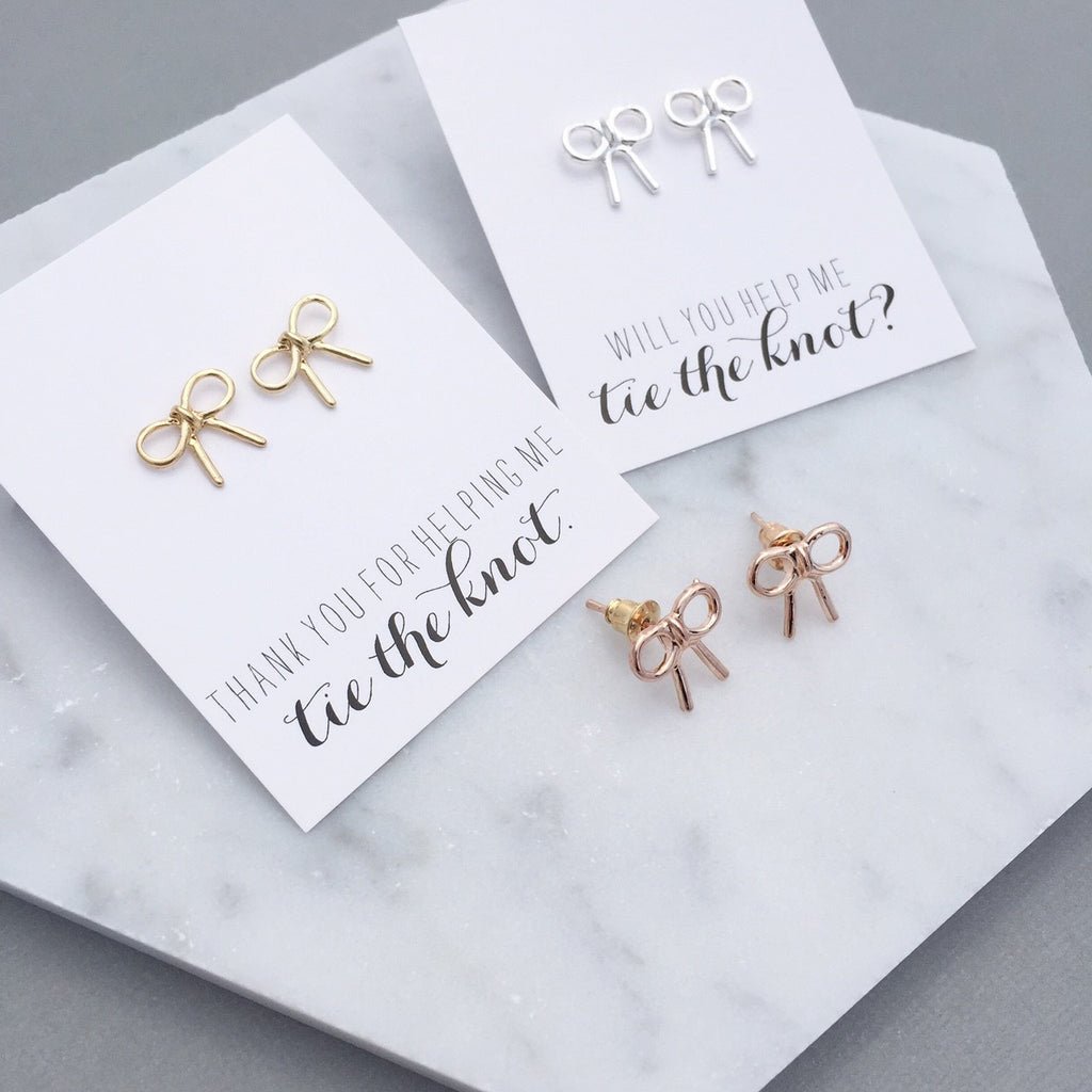 TIE THE KNOT EARRINGS – The Glittered Gal