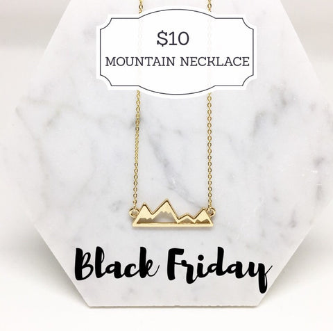 BLACK FRIDAY: MOUNTAIN NECKLACES