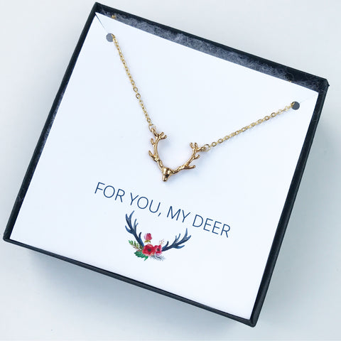 ANTLER NECKLACE GIFT BOX