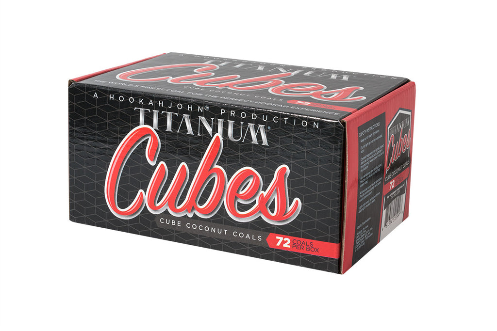 "Titanium Coconut Coal ""The CUBE"" 72ct 1Kg Box"