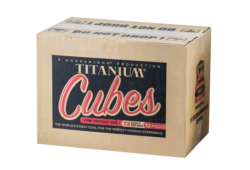 Titanium Cubes Natural Hookah Coals Full Case - Cubes - 12x72ct