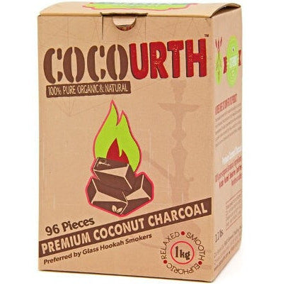 Cocourth Coconut Hookah Charcoal (96 Pieces -Flat)