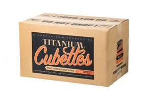 "FULL CASE of ""Cubettes"" by Titanium Coconut Charcoal"