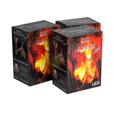 Coco Ultimate Natural Hookah Charcoal - 1kg Box 3 PACK