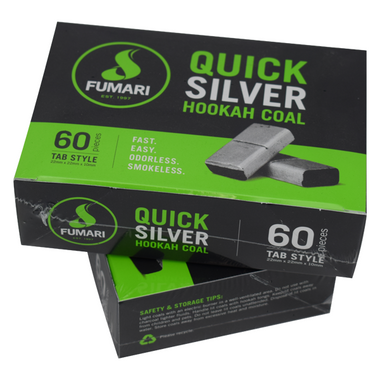 FUMARI QUICK SILVER HOOKAH COAL - 60 PIECES