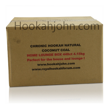 Chronic Natural Hookah Coals Home Lounge Box - Flats - 448ct