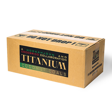 Titanium Coconut Coal 10Kg Lounge Box FLATS