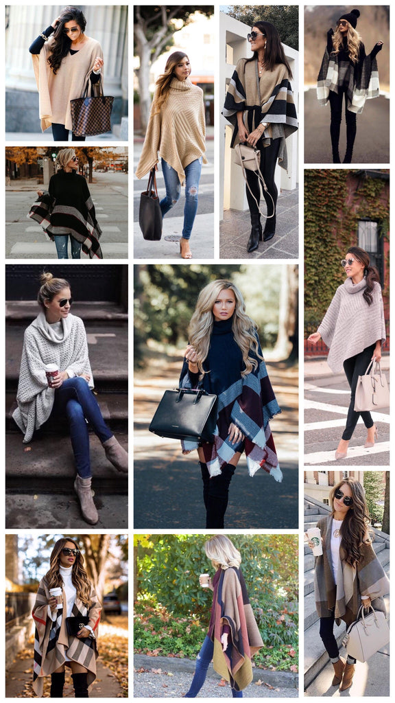 Best Fall Poncho Outfits
