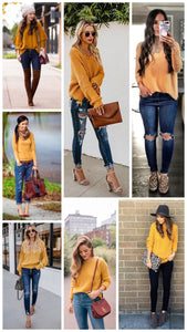 Colors to Wear with Mustard