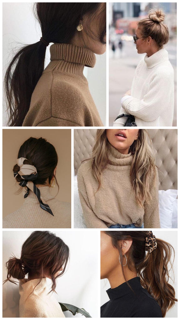 6 Ways to Style Your Hair Wearing a Turtleneck